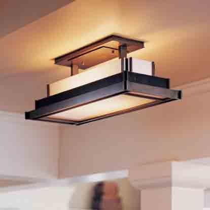 روشنایی آشپزخانه, نصب لوستر