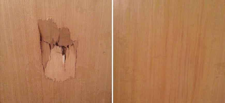 تعمیر درب چوبی شکسته