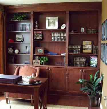 ساخت-کتابخانه-در-منزل,-ساخت-کتابخانه-چوبی