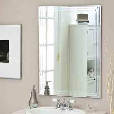 نصب آینه بدون قاب, نصب آینه روی دیوار
