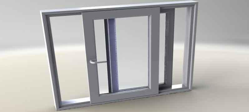 پنجره کشويی تک ريل upvc