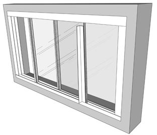 عایق بندی پنجره دوجداره کشویی پنل شیشه ای افقی