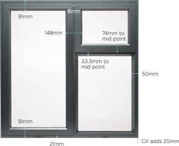 پنجره لولایی آلومینیومی