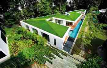 تزیین پشت بام با چمن مصنوعی